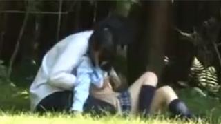 野外セックス_JK_カップル_盗撮画像02