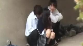 JK_野外セックス_青姦_盗撮画像03