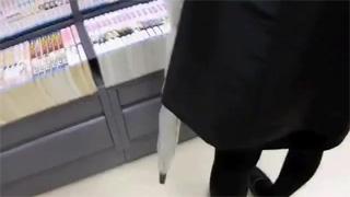 痴漢_本屋_素人_ぶっかけ_精子_盗撮画像03